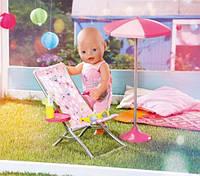 Шезлонг и зонт для куклы Baby Born Zapf Creation 822395