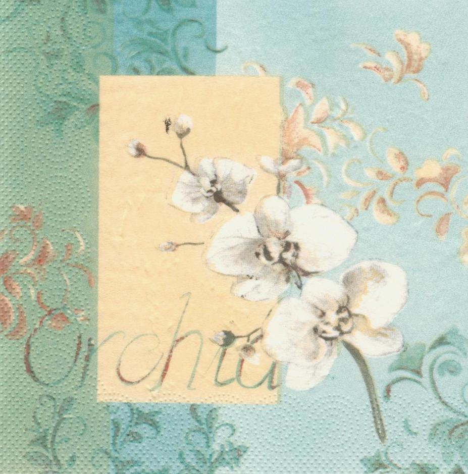 Салфетка декупажная Орхидея 6266