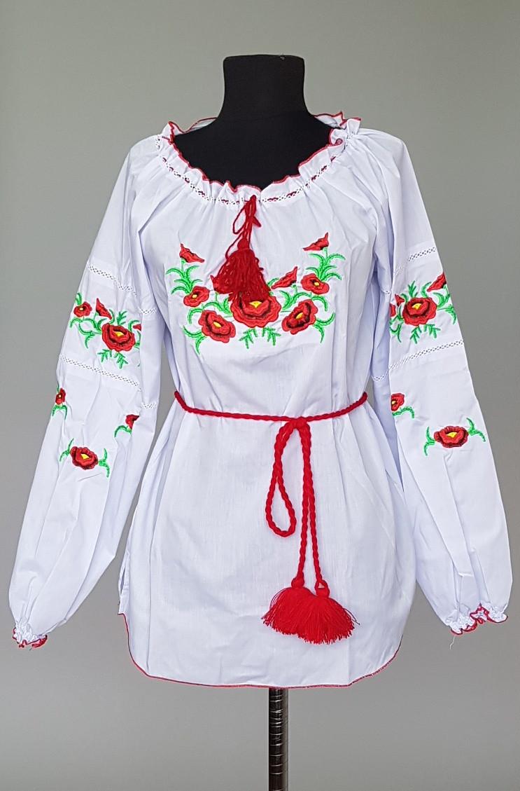 """Вышитая женская сорочка """"Галина"""" с длинным рукавом"""