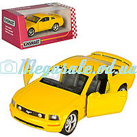 Машинка железная инерционная Ford Mustang GT 1:38: резиновые колеса