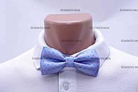 """Бабочка мужская, классик голубая металлическая застежка """"Remen"""" LM-638"""