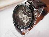 Мужские наручные часы Emporio Armani Серебристый Коричневый Коричневый