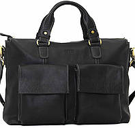 Кожаный мужской портфель Mk25 черный матовый