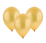 Воздушный шар 9 дюймов золотистый