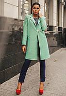 """Элегантное женское пальто средней длины 0071 """"Шерсть Пряжка Стразы"""" в расцветках"""