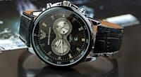 Мужские наручные часы Emporio Armani Серебристый Черный Черный