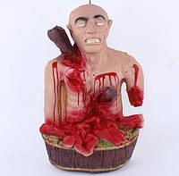 Кукла труп - резиновый макет- подвесной, настенный - декорация на хэллоуин