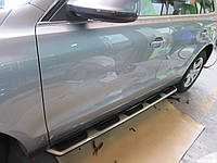 Оригинальные боковые пороги Audi Q5 2008+ Ауди кью5