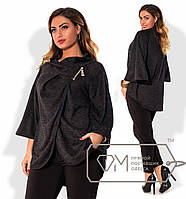 Модное женское пончо большого размера x-1515820