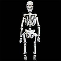 Скелет подвесной 1,5 м  горят глаза, музыкальный  - декорация на хэллоуин