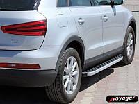 """Боковые пороги """"BlackLine""""  Audi Q5 2008+ Ауди кью5"""