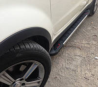 """Боковые пороги """"RedLine V1""""  Audi Q5 2008+ Ауди кью5"""