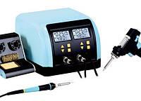 Паяльная станция цифровая с оловоотсосом ZD-8917B, 60Вт/90Вт, 160-480°C