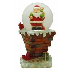 """Сувенир водный шар  """"Дед Мороз на подставке"""""""