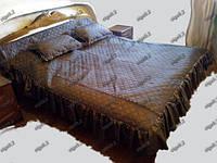 Покрывало Двуспальное + 2 подушки. Атлас.