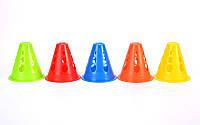 Фишка спорт. Конус для роллеров 8см C-4349 (пластик, h-8см, цвет в ассортименте)
