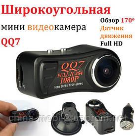 Мини камера-регистратор dv dvr QQ7, автомобильный мини видеорегистратор  2 USB шнура