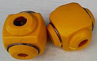 Ответвительный сжим орех желтый (клеммник) (4-10 мм²: 1,5-2,5 мм²) IP20 (КРАТНО 20шт)