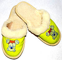 Домашние детские тапочки из овчины