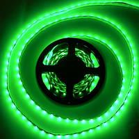 Лента светодиодная SMD3528 120LEDх4LM 9,6W зеленая влагозащищенная