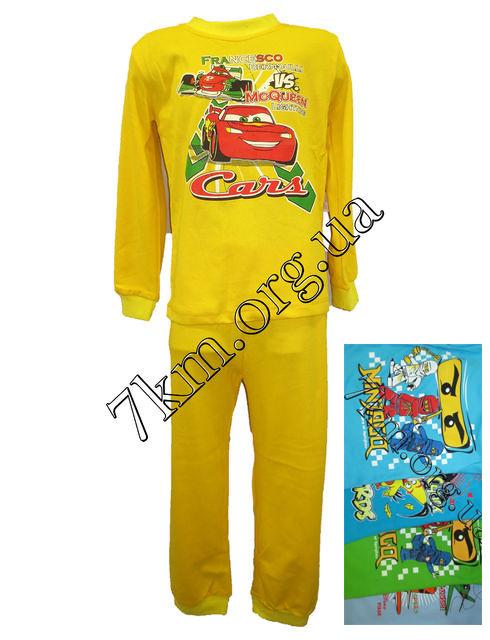 Пижама детская для мальчиков с 2 до 6 лет трикотаж интерлок + начес Украина  - Детская одежда оптом 7км - Оптовый интернет магазин 7km.org.ua в Одессе