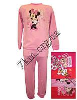 Пижама детская для девочек с 2 до 6 лет трикотаж интерлок + начес Украина