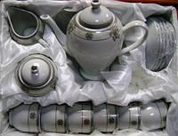 Набор чайный 17 шт. фарфор