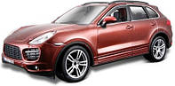Авто-конструктор PORSCHE CAYENNE TURBO коричневый металлик, 1:24 Bburago (18-25104)