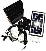 Портативная универсальная солнечная систем GDLITE GD-8126 с функцией MP3 плеера и FM радио , фото 2