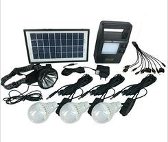 Портативная универсальная солнечная систем GDLITE GD-8126 с функцией MP3 плеера и FM радио , фото 3