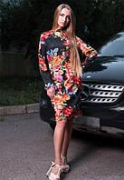 Женское приталенное платье с французского трикотажа