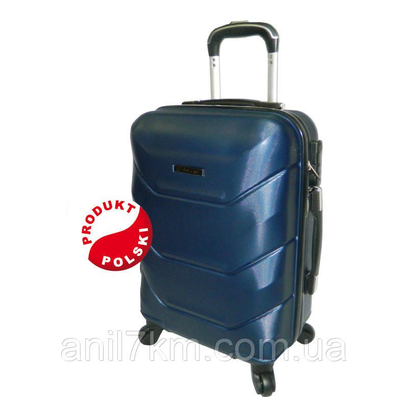 Средний пластиковый чемодан на четырёх колёсах SUITCASE