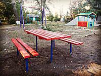 Комплект детский(Стол и лавки) для игровых площадок