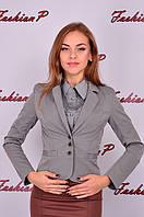 Пиджак хвостик SL-8568 №12.1 (серый), фото 1