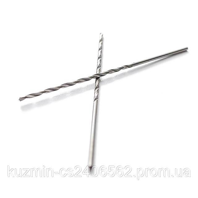Сверло по металлу удлиненное DIN 340 1.0 мм HSS Intertool SD-5210