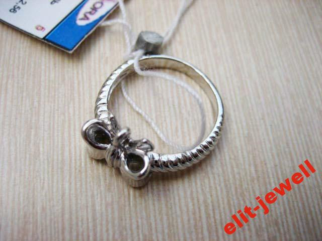 Серебряное кольцо Бантик размер 15