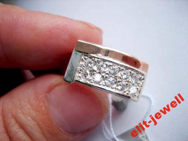 Кольцо - серебро и золото - 17,5 размер