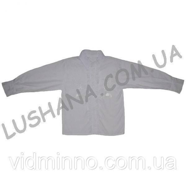 Белая блузка с рюшем р. 17