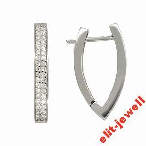 Серьги Джорджия - родированное серебро с камнями - Интернет магазин  украшений и аксессуаров Elit-jewell ea557018dcc