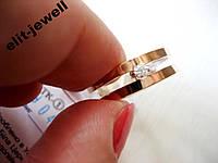Серебряное кольцо с золотом Секрет, фото 1