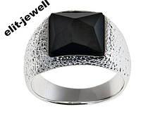 Посеребренное кольцо Алудра с кристаллом Сваровски