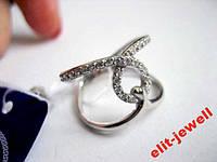 Родированное кольцо Шерами 16,5 размер, фото 1