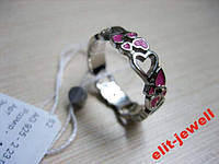 Серебряное кольцо Любава с эмалью