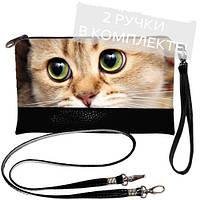 Женская сумка клатч с котиком