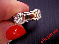 Кольцо Батик с золотыми вставками 16,5 размер