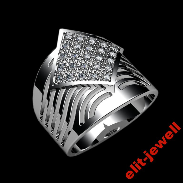 Широкое кольцо Ариадна - 17 размер