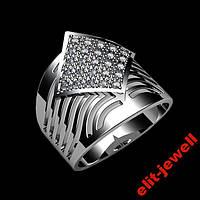 Широкое кольцо Ариадна - 17 размер, фото 1