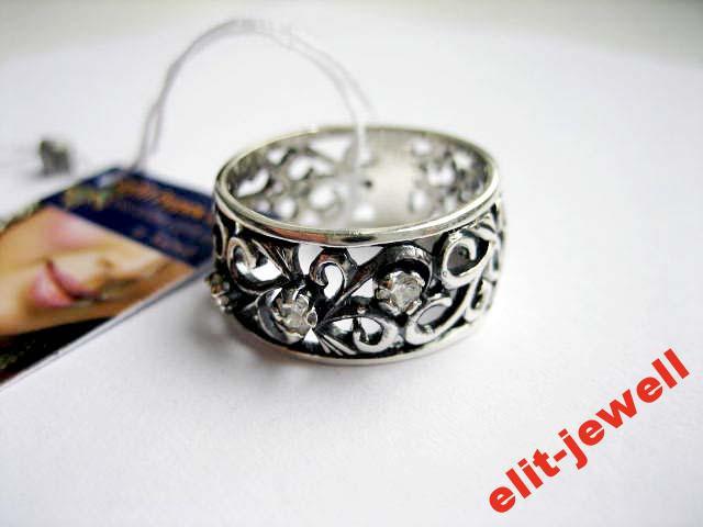Серебряное кольцо с чернением 17,5 размер