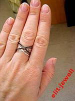 Родированное кольцо Ребекка 17 размер