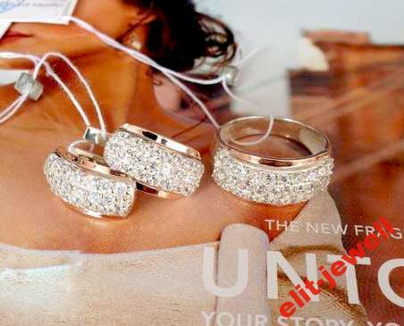 Красивый комплект Дюна серебро с золотом